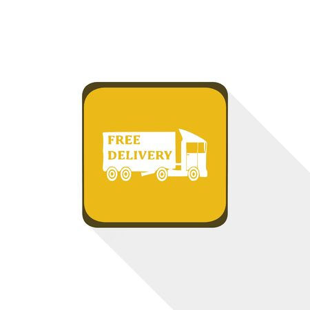 shopping carriage: Truck icon,sing, illustration