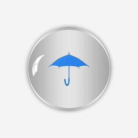 Icône parapluie, chanter, illustration 3D Banque d'images - 82566846
