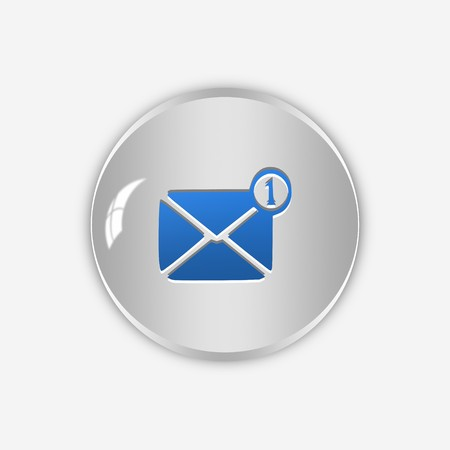 Message icon,sing,3D illustration Stock Photo