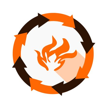 fire icon,sing,vector