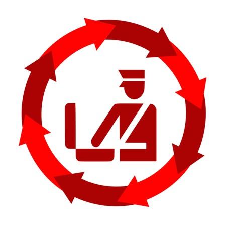 Customs,icon,sing,vector