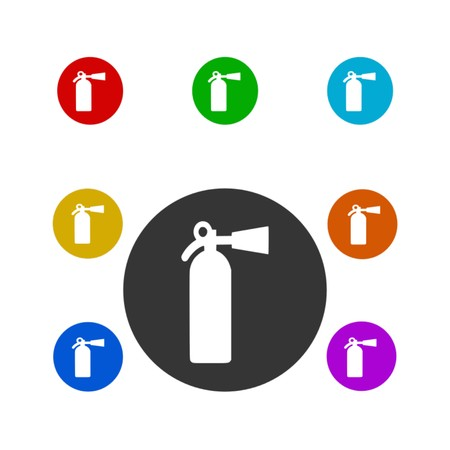 fire extinguisher,icon,sing,vector