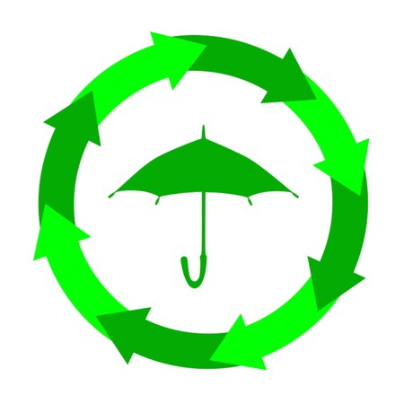 Icône parapluie, chanter, vecteur Banque d'images - 85868378