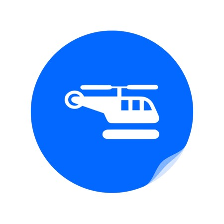 helicopter icon,vector