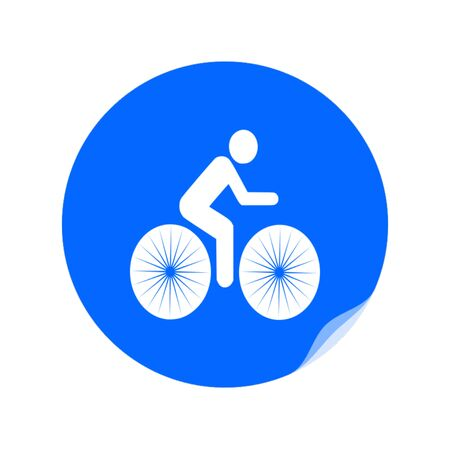 Bike trail icon vector Illustration
