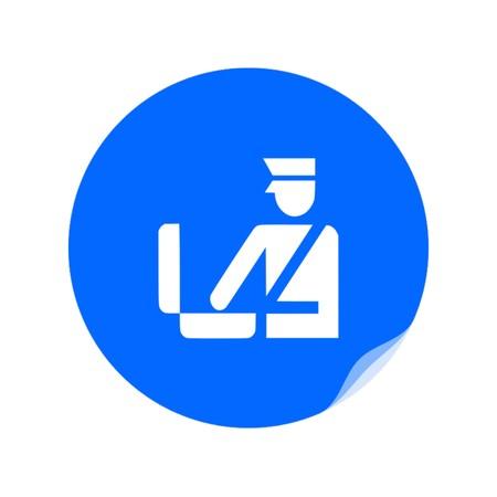 Customs icon,vector