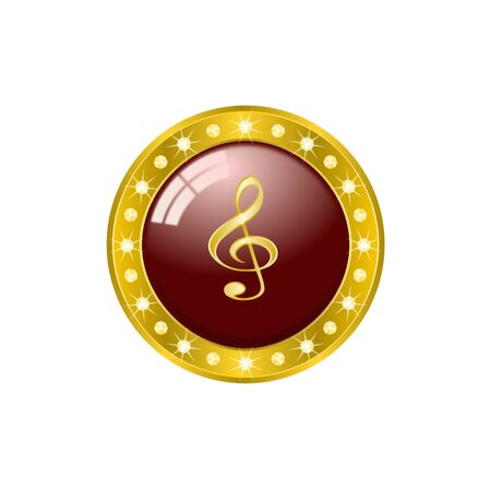 g clef: A clef icon on white background.