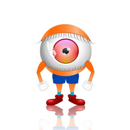 eye 3D illustration
