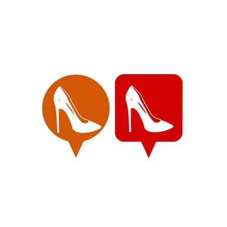 women shoes,icon,3D illustration