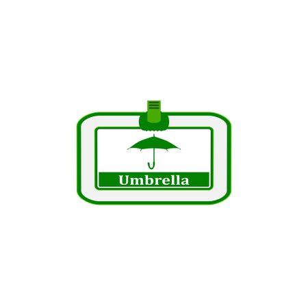 Parapluie, signe, icône, illustration 3d Banque d'images - 88174554