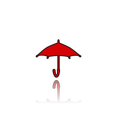 Parapluie, signe, icône, illustration 3d Banque d'images - 88217126