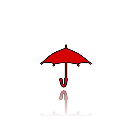 umbrella,sign,icon,3D illustration Stock Photo