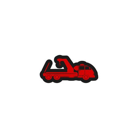 Towing truck ,sign,icon,3D illustration