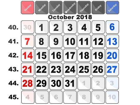 Calendar,3D illustration