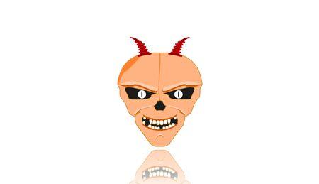 human skull,head,3D illustration Stock Photo