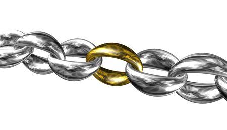Chain,sign,icon,3D illustration Stock Photo