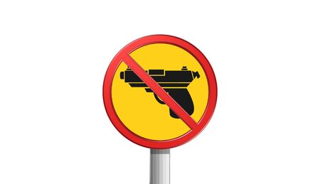 gun,sign,icon,3D illustration