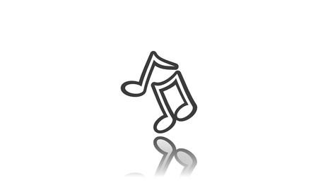 Musical icon on white