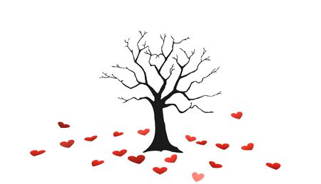 tree of love icon,sign,3D illustration Stock Photo