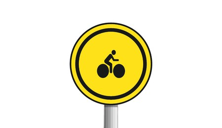 Bike icon, sign, 3D illustration Stock Photo