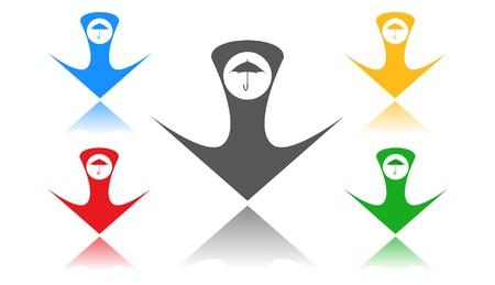 Umbrella icon,sign,3D illustration Banque d'images - 96806628