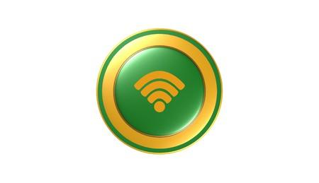 Wireless icon,sign,3D illustration