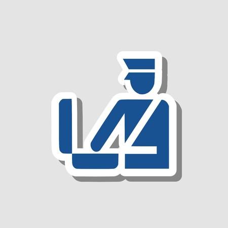 Customs icon 3D illustration