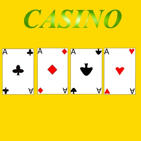 casino game aces cards 3D illustration