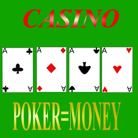 casino game aces cards 3D illustration Foto de archivo - 100613060