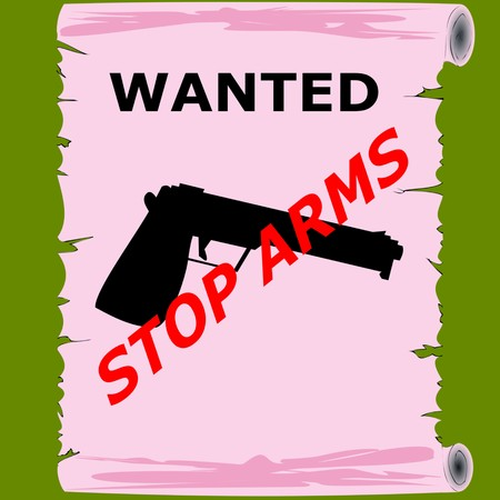 gun sign 3D illustration