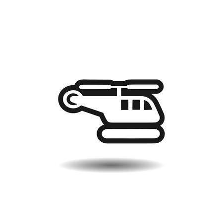 helicopter icon,sign,3D illustration
