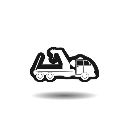 Towing truck icon,sign,3D illustration Banque d'images - 100783569