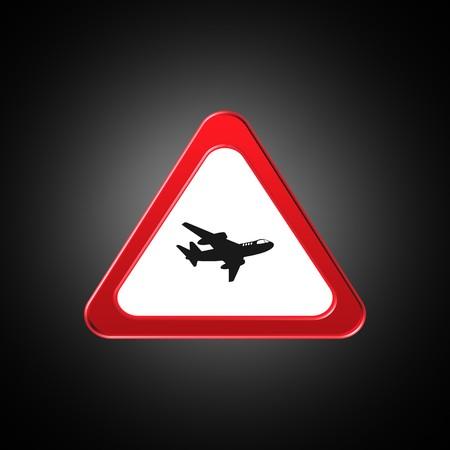 plane icon,sign,best 3D illustration