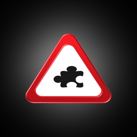 puzzle icon,sign,best 3D illustration Stock Photo