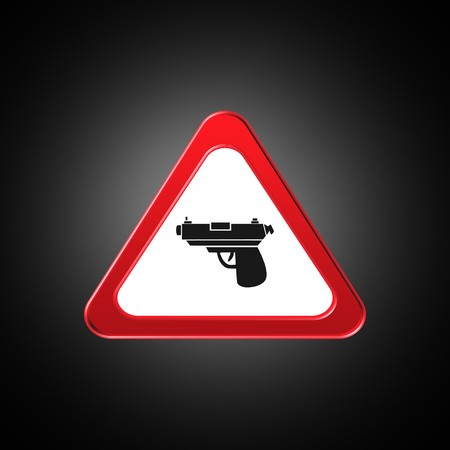 gun icon,sign,best 3D illustration