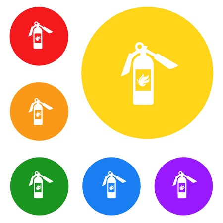 fire extinguisher icon,sign,best 3D illustration