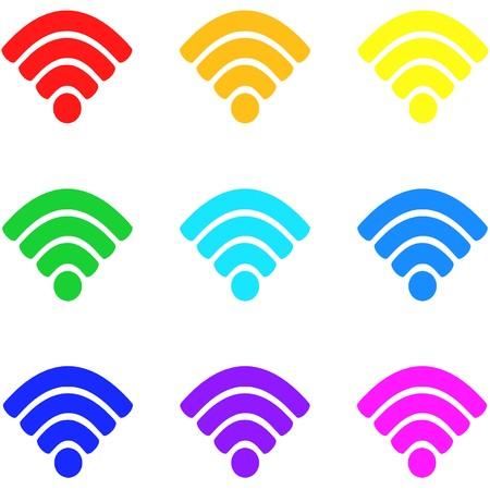Wireless icon,sign,best 3D illustration