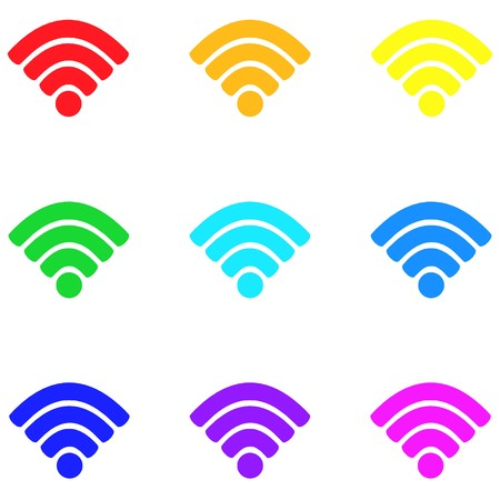 Wireless,icon,sign,best 3D illustration Imagens