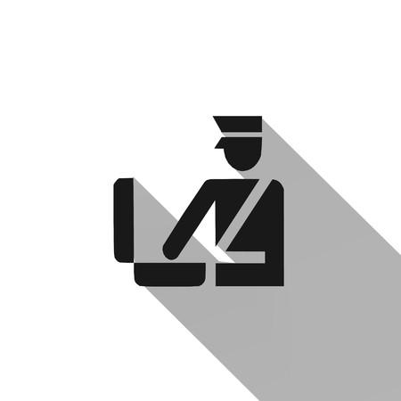Customs,icon,sign,best 3D illustration