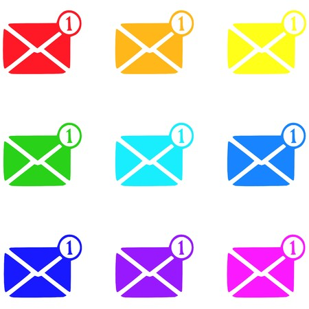 Message icon,sign,best 3D illustration Stock Photo