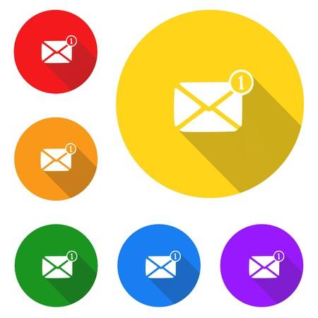 Message icon,sign,best 3D illustration