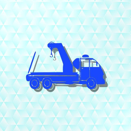 Towing truck,icon,sign,best 3D illustration
