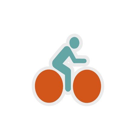 bike icon 3D illustration