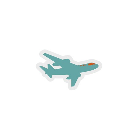 plane icon 3D illustration 写真素材