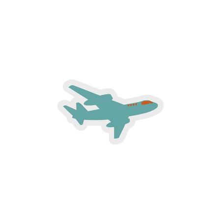plane icon 3D illustration Stock Photo