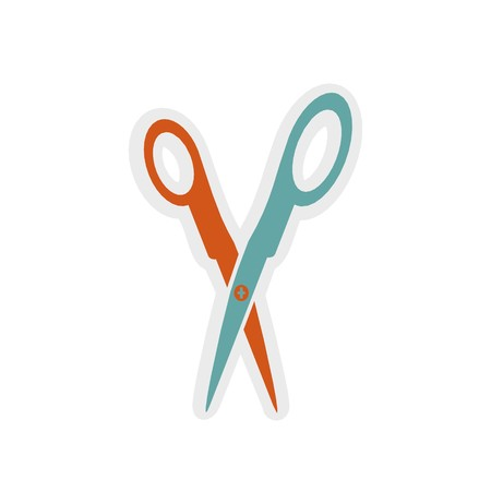 scissors icon 3D illustration