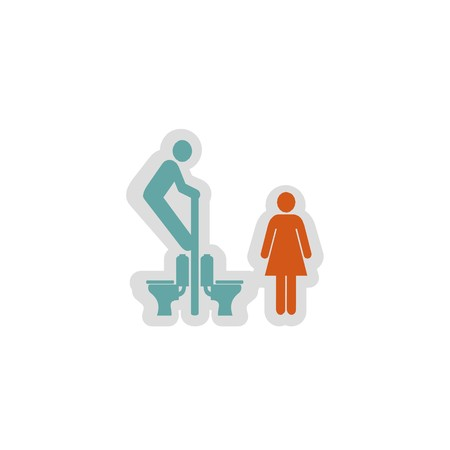 toilet icon 3D illustration