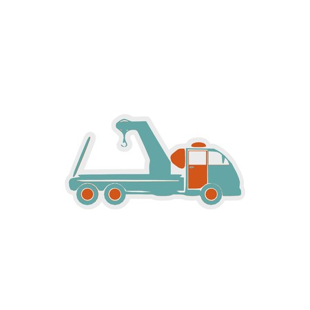 Towing truck icon 3D illustration