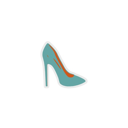women shoes icon 3D illustration