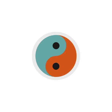 Yin and yang icon 3D illustration 写真素材
